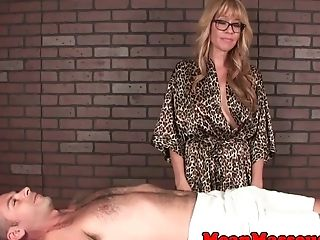 Milf masseuse edging subs hard cock