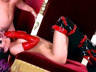 Evil Rachel Starr ro;e play porn with a muscular man