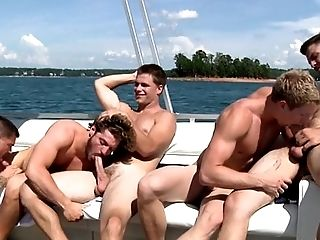 Gay outdoor orgy amateurs on a speed boat