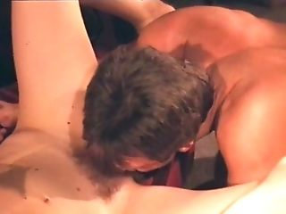 Moana Pozzi in Threesome DP scene - Manbait 2 (1992)