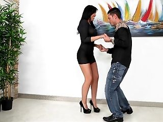 Making out with a filthy Latina model