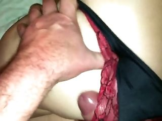 I had my cock in my wife's panties like that this morning