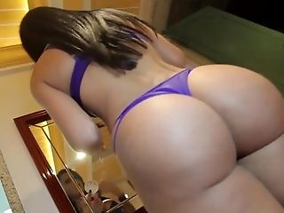 Glamorous latina trans and her beautiful ass