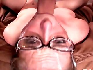 Four eyed wanton bitch Penny Pax gets her mouth banged tough