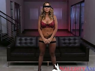 Well endowed dude Johnny Castle fucks blind folded busty milf Aubrey Black