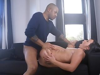Cute Alysa Gap gets her pussy filled with a big load of dick