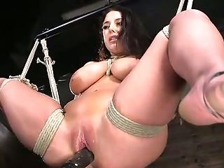 Real bondage session with awesome big breasted MILF Angela White