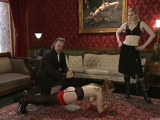 The best role for Bella Rossi is a sex slave and all poses you can imagine