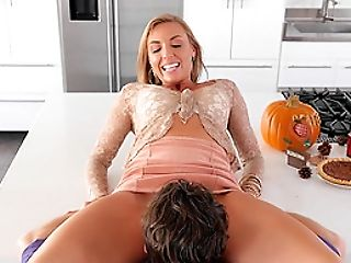 Smooth-skinned Kate Linn is ready for yet another cowgirl cock ride
