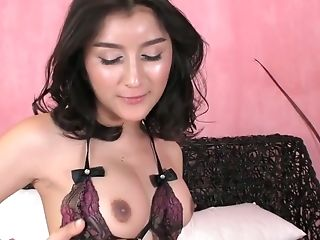Slutty T-girl Alice G is sucking dick before a crazy anal pounding scene