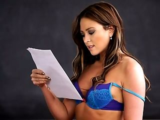 Gorgeous brunette chick Natalia Forrest decided to masturbate during exam