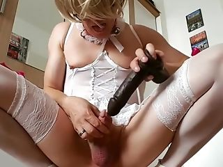 Sissy takes pink pill after cbt to become a Big Black Cock addicted slut