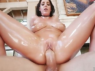 Sex-appeal hottie Angela White gets her lubed pussy rammed