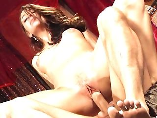 Erotic porn movie with moaning brunette Gracie Glam in the bedroom