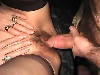Grote Pik, Close-up, Harig, Huisgemaakt, Kousen,