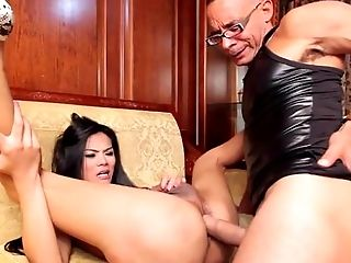 Ladyboy beauty assrailed with big cock
