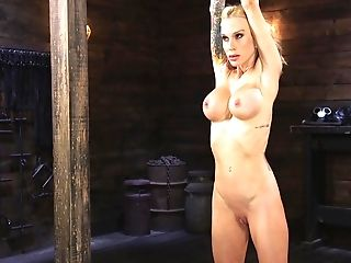 Rough BDSM torture session with blonde girlfriend Sarah Jessie