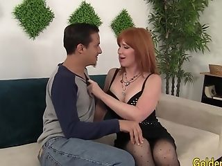 Older woman Freya Fantasia seduces boy