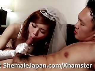 Here Cums the Bride - Dream newhalf, Nene Aizawa