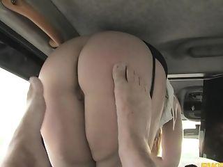 Car fucking with the horny taxi driver and amateur slut Anna Joy