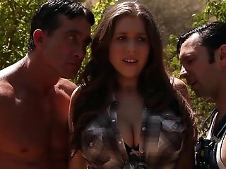 Alex Chance is a curvy brunette in need of a couple of hard dicks