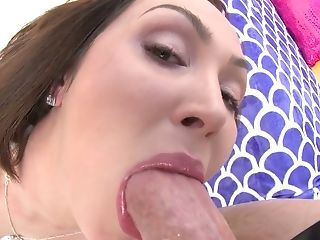 Anal acrobat Yasmin Scott is impaled on a huge oiled up dick