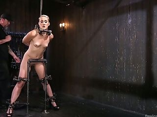 Tempting whore Dylan Ryan gets her pussy punished in the torture room