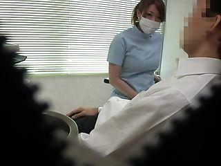 Kinky Japanese dentist enjoys pleasuring her amateur client